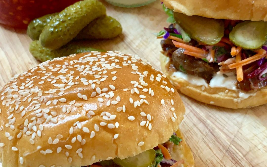 BBQ Pork Brioche Burgers