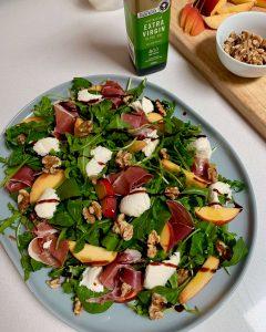 Peach, Bocconcini & Prosciutto Salad