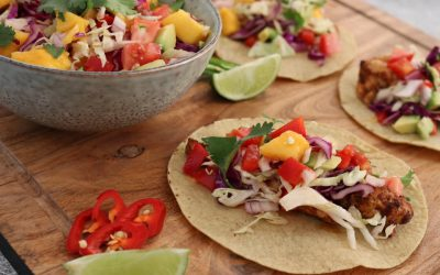 Mexican Chicken Tacos with Mango Salsa