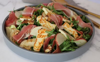 Proscuitto, Fennel, Halloumi & Apple Salad