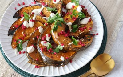 Zataar Spiced Pumpkin with a Tahini Yoghurt Dressing