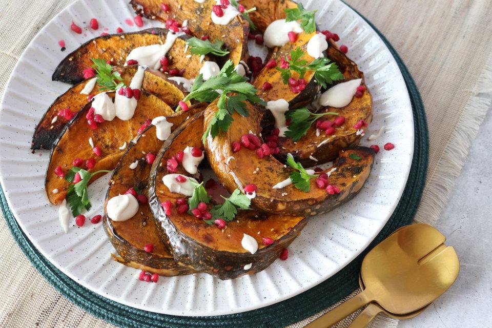 Zataar Spiced Pumpkin with a Tahini Yoghurt Dressing