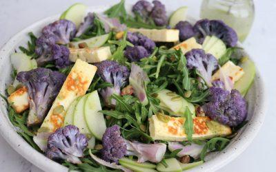 Cauliflower, Apple & Halloumi Salad with a Parsley Dressing