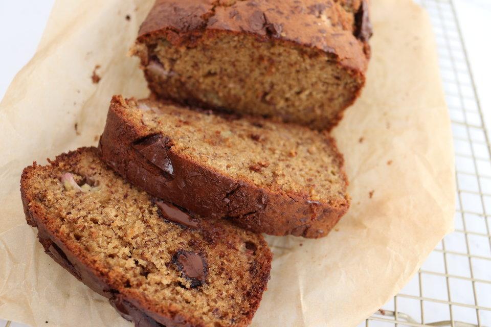 Wholemeal Spelt & Choc Chunk Banana Bread