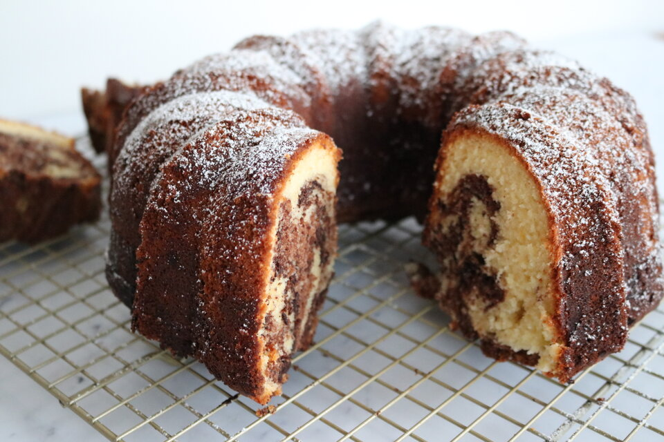 Marbled Chocolate Bundt Cake
